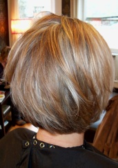 Her Color Is All Over Golden Blond With Bold And Warm Brown Lowlights Cut Very Texturized Lots Of Direction For A More Dramatic