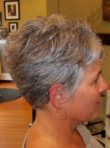 Cool Ash Tones Neutralize The Yellow In Gray Hair