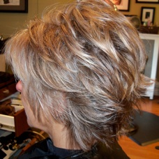 Photos of real hair behind my chair with a brief description of my full highlight with a bright blond a med golden honey blond pmusecretfo Choice Image