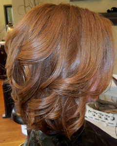 Photos of real hair behind my chair with a brief description of my ...